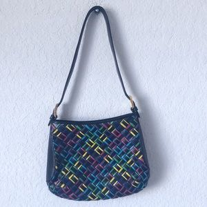 Manelli leather multi color mini bag!